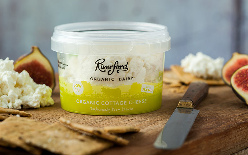 A picture of Organic Low Fat Cottage Cheese from Riverford Organic Dairy