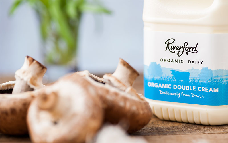 Picture of the Organic Double Cream 500ml Carton from Riverford Organic Dairy